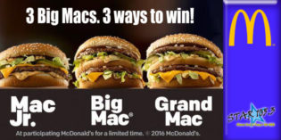 3 BIG MACS, 3 WAYS TO WIN!