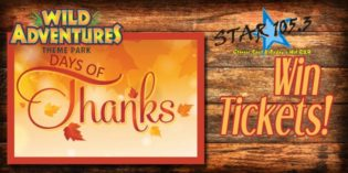 WIN TICKETS TO WILD ADVENTURES DAYS OF THANKS